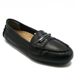 Vionic Women's ASHBY Black Leather Driving Loafers